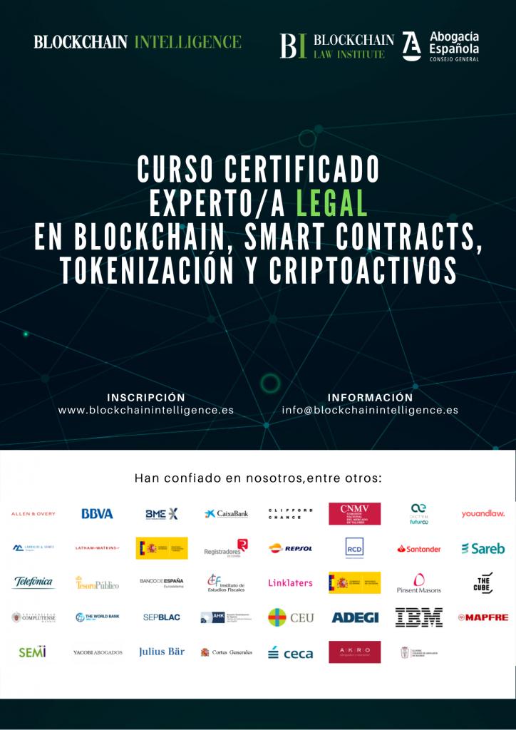 Curso Certificado Experto/a Legal en Blockchain, Smart Contracts, Tokenización y Criptoactivos