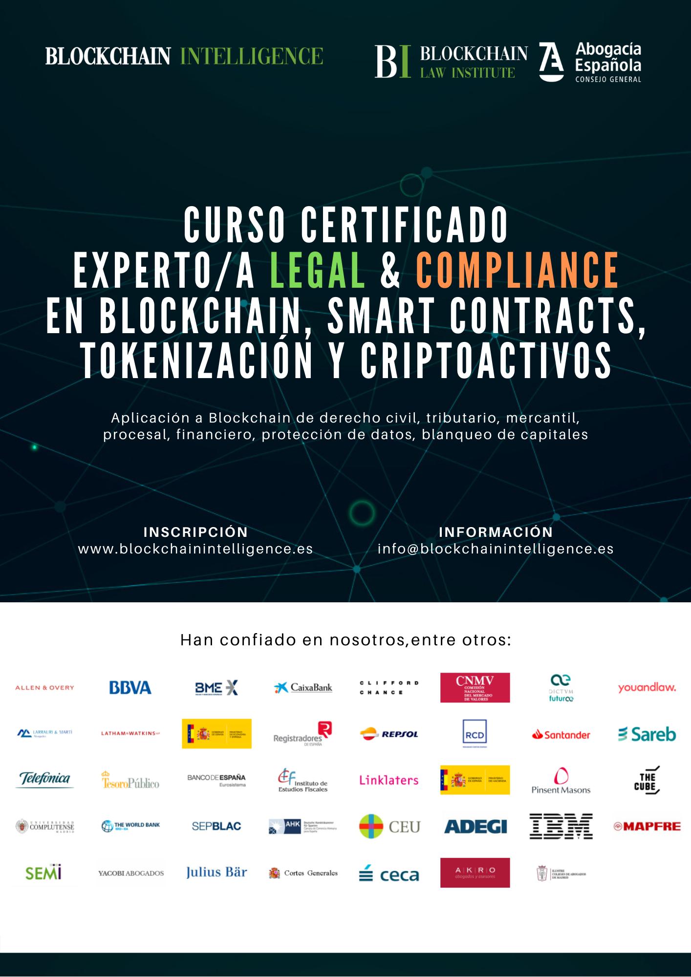 Curso Certificado Experto/a Legal & Compliance en Blockchain