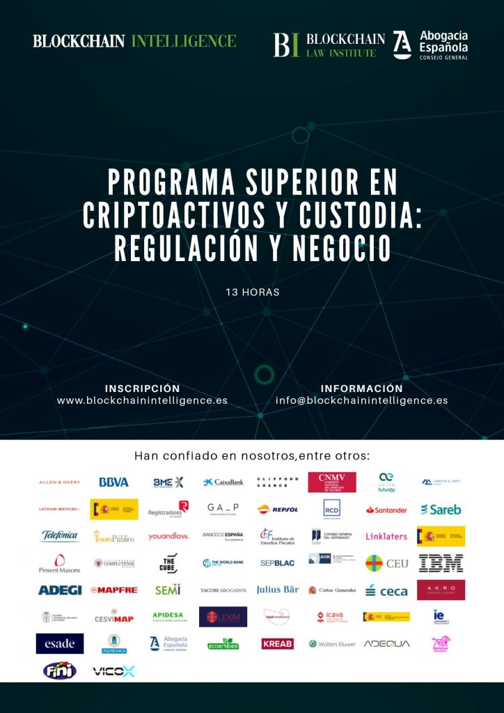 Programa superior certificado en criptoactivos y custodia: Regulación y Negocio